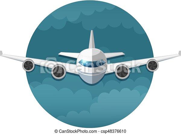 Vector icon of airplane - csp48376610