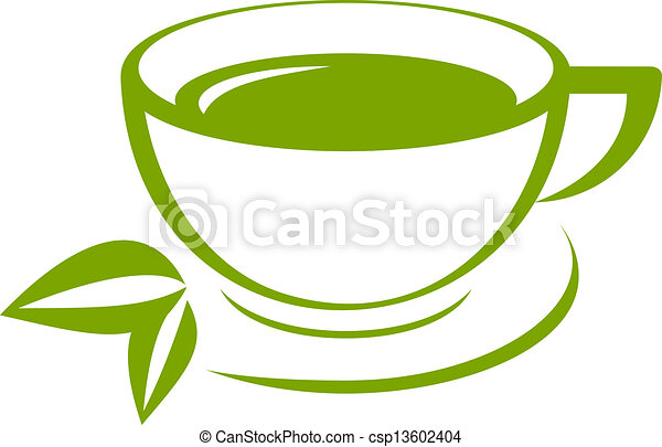vector icon of green tea cup vector clipart search illustration rh canstockphoto com tea cup vector image tea cup vector image