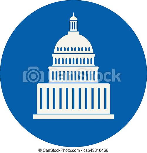vector icon of united states capitol hill building washington dc rh canstockphoto com capitol building icon vector capitol building vector graphic