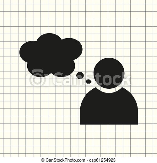 vector icon person with Speech - csp61254923