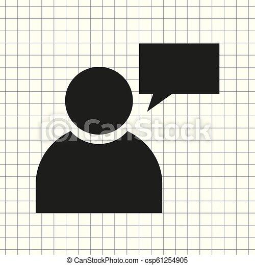 vector icon person with Speech - csp61254905