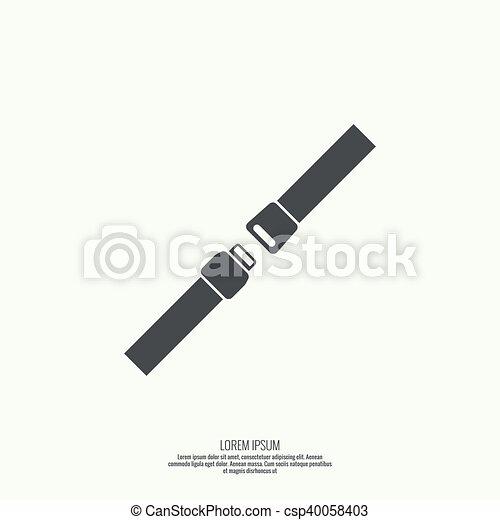 Vector icon safety belt. - csp40058403