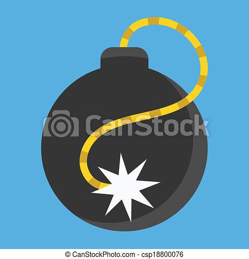 El icono de la bomba Vector - csp18800076