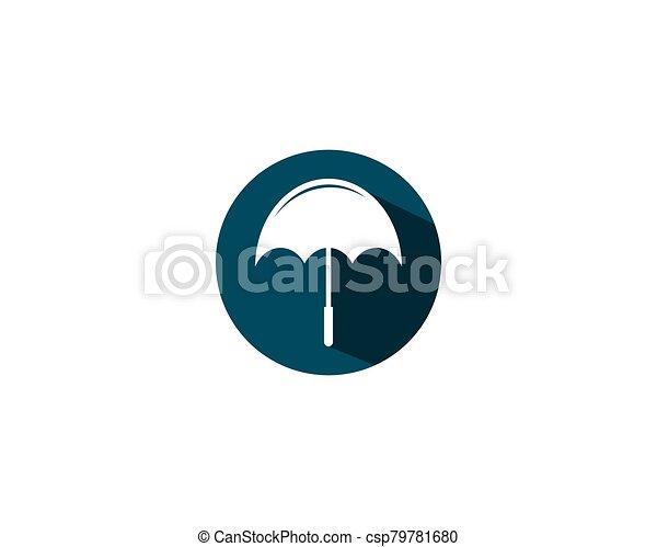 vector, icono, símbolo, paraguas - csp79781680