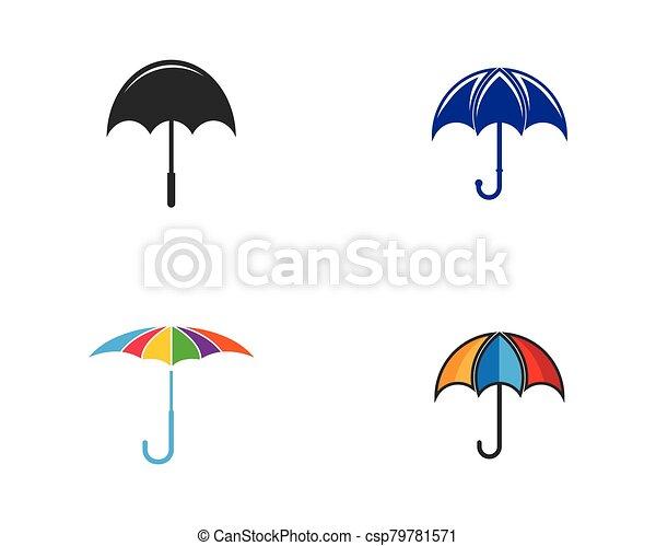 vector, icono, símbolo, paraguas - csp79781571
