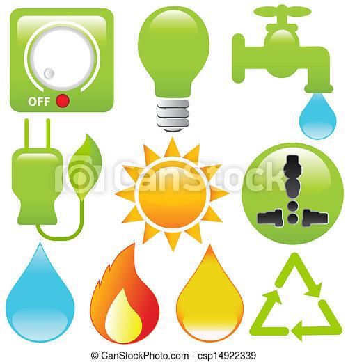 Vector Icons Energy Saving