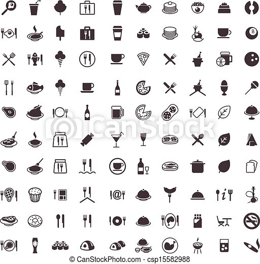vector icons food and drink - csp15582988