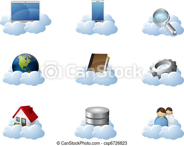 Vector Icons for Cloud Computing - csp6726823