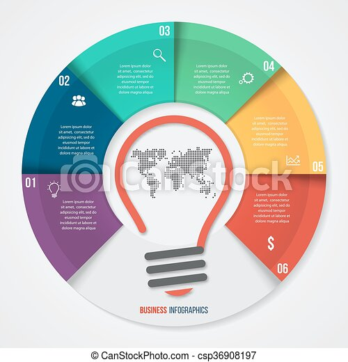 Vector Idea Pie Chart Infographic Template For Graphs Charts