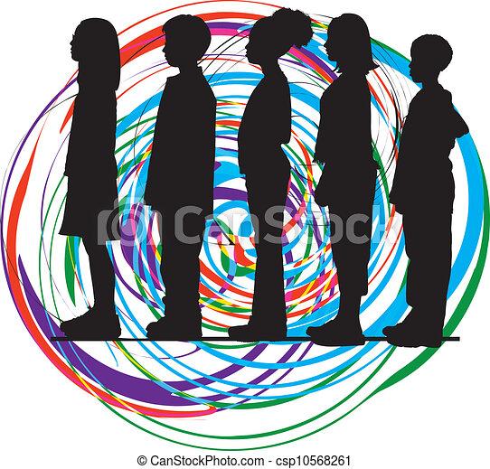vector, illustratie, friends. - csp10568261