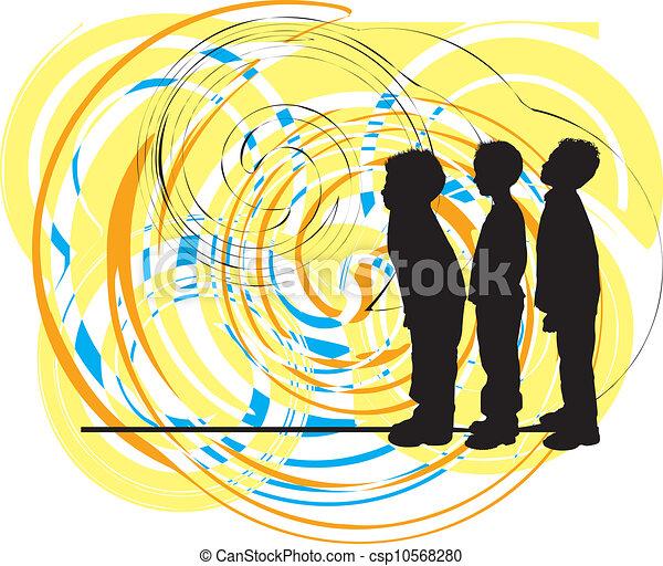 vector, illustratie, friends. - csp10568280