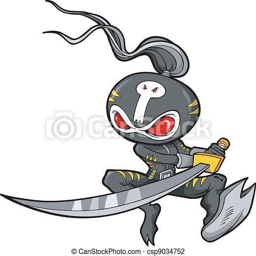 vector, illustratie, ninja - csp9034752