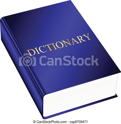 vector, illustratie, woordenboek - csp9709471