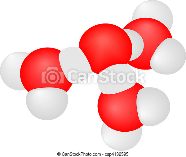 Vector illustration a molecule - csp4132595