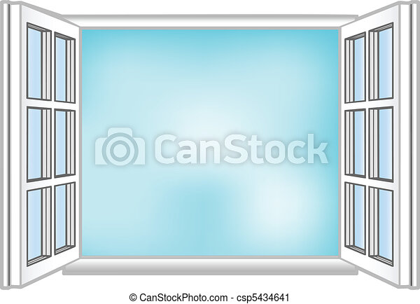 Vector illustration a window and the sky - csp5434641