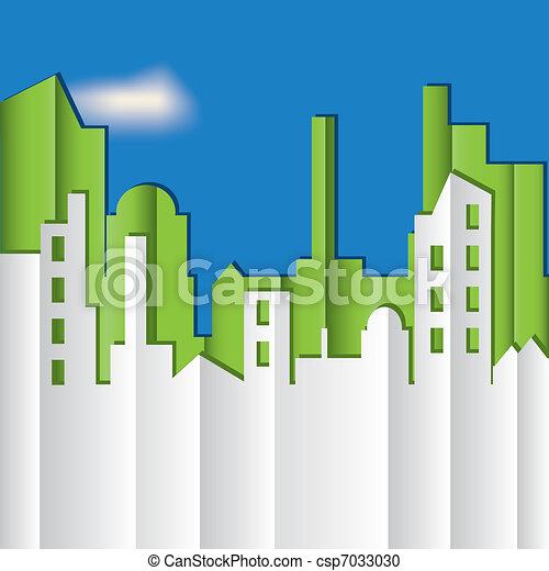 Cityscape. Ilustración del vector. - csp7033030