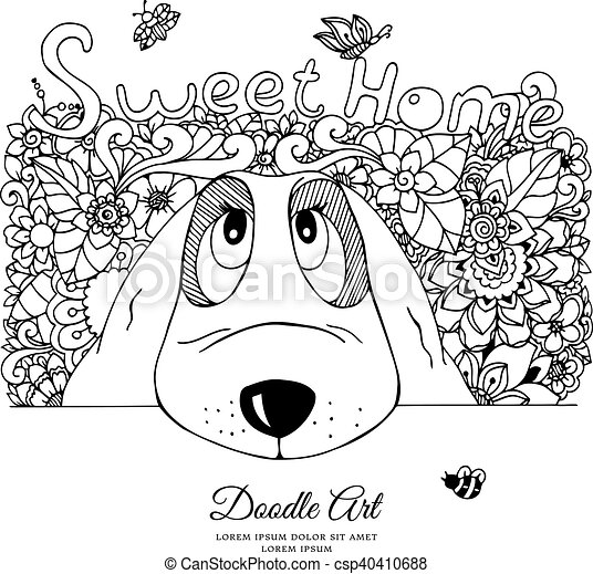 Free Line Drawing Of A Dog, Download Free Clip Art, Free Clip Art on Clipart  Library