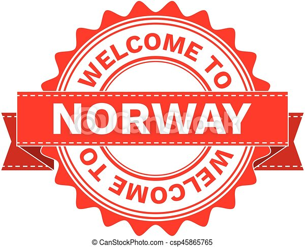 Vector Illustration Doodle of WELCOME TO COUNTRY NORWAY . EPS8 . - csp45865765