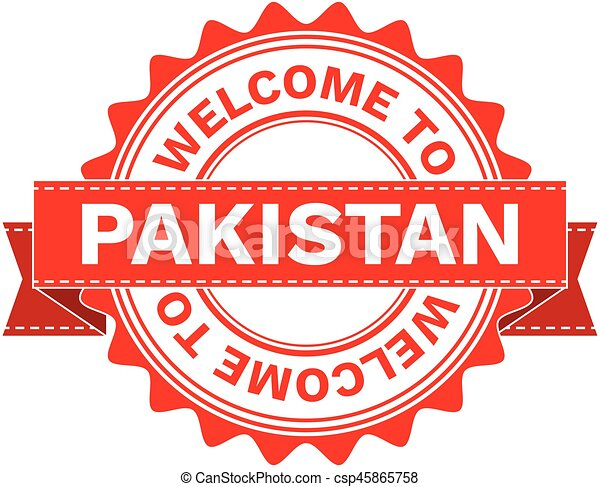 Vector Illustration Doodle of WELCOME TO COUNTRY PAKISTAN . EPS8 . - csp45865758