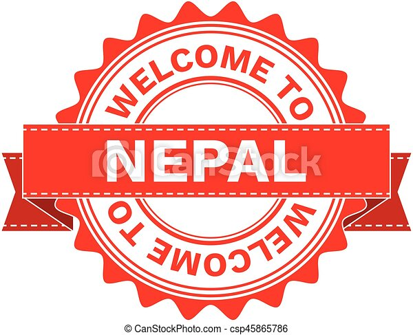 Vector Illustration Doodle of WELCOME TO COUNTRY NEPAL . EPS8 . - csp45865786