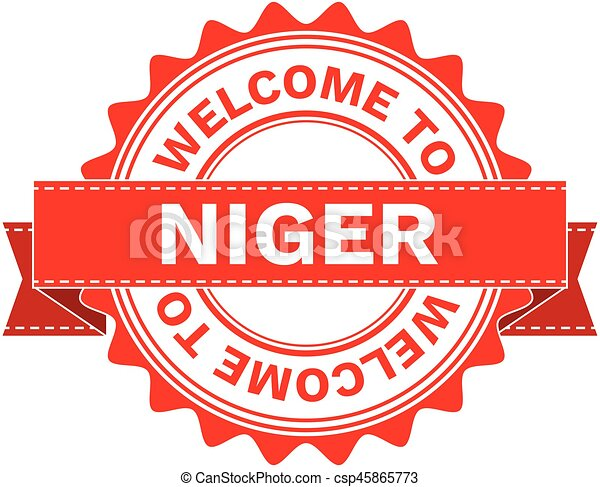 Vector Illustration Doodle of WELCOME TO COUNTRY NIGER . EPS8 . - csp45865773