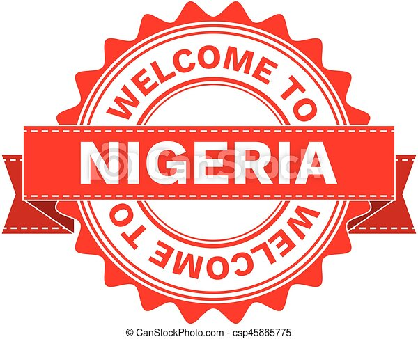 Vector Illustration Doodle of WELCOME TO COUNTRY NIGERIA - csp45865775