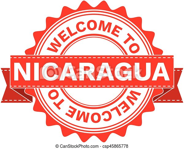 Vector Illustration Doodle of WELCOME TO COUNTRY NICARAGUA . EPS8 . - csp45865778