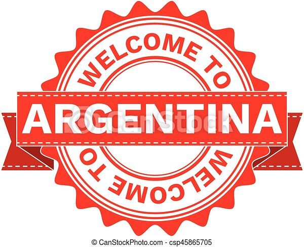 Vector Illustration Doodle of WELCOME TO COUNTRY ARGENTINA . EPS8 . - csp45865705