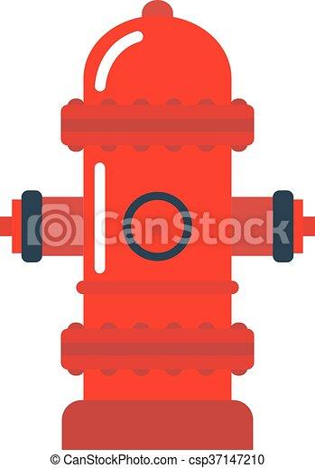 vector illustration fire hydrant vector illustration of vector rh canstockphoto com fire hydrant clipart png red fire hydrant clipart