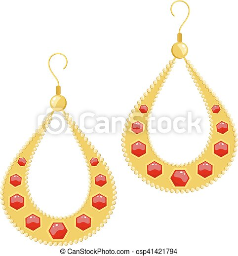 ic golden with stones arrivals navratna earrings new er