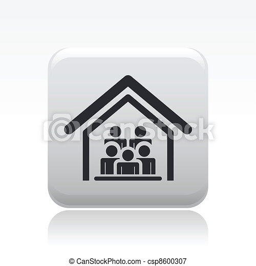 Vector illustration group of people who live together - csp8600307