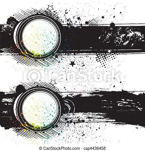 vector illustration-grunge ink back - csp4436458