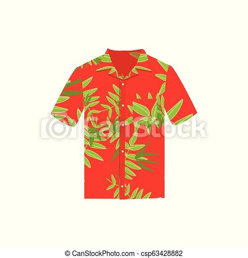 f4c2e8bc1 Vector illustration Hawaiian aloha shirt. Hawaii shirt aloha beach male  cloth. - csp63428882