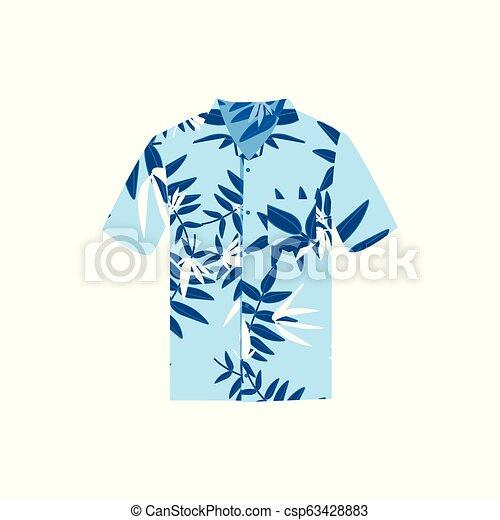 98c61a6f8 Vector Illustration Hawaiian Aloha Shirt. Hawaii Shirt Aloha Beach Male  Cloth.