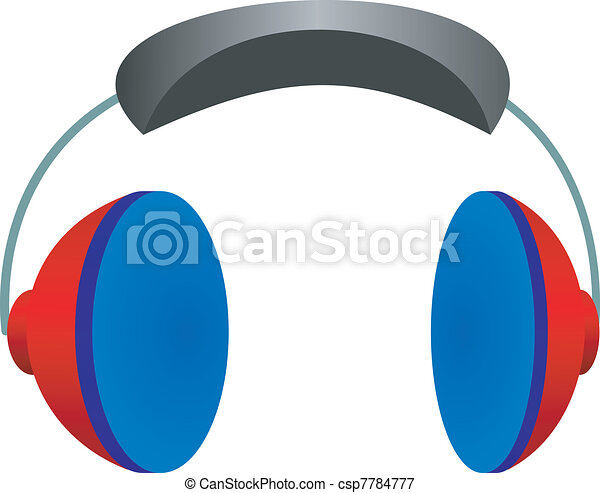 Vector illustration headphones on a white background - csp7784777