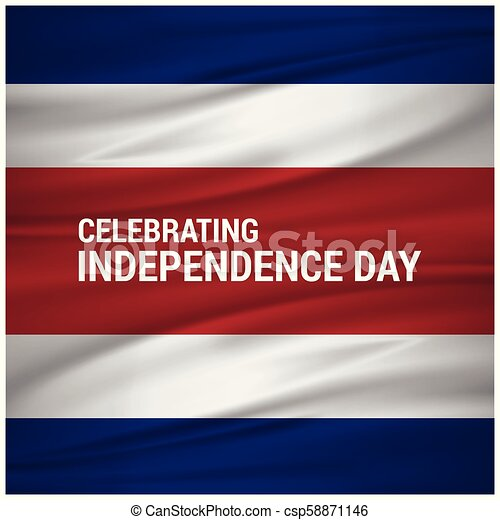 Vector Illustration independence day of Costa Rica. - csp58871146