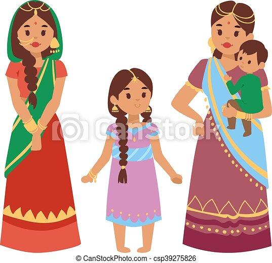 5e7b9cba95 Vector illustration indian people. Vector illustration of indian ...