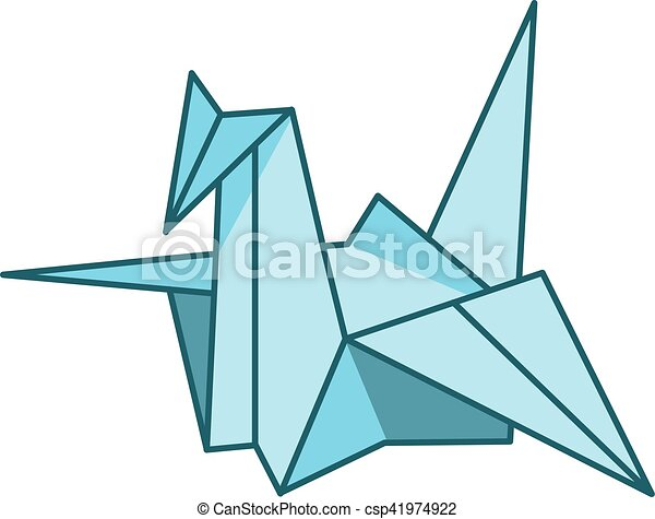 Vector Illustration Japanese Paper Cranes Origami Bird Traditional Symbol Of Peace Advertisements Signs Stickers Web Banners