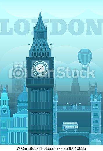 Vector illustration London - csp48010635