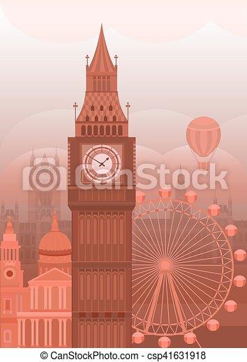 Vector illustration London - csp41631918