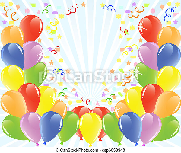 vector illustration of a balloons background with space for text. - csp6053348