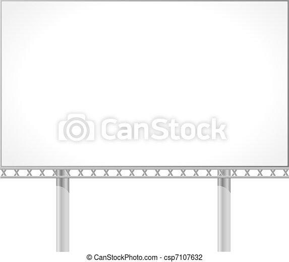 Vector illustration of a billboard - csp7107632