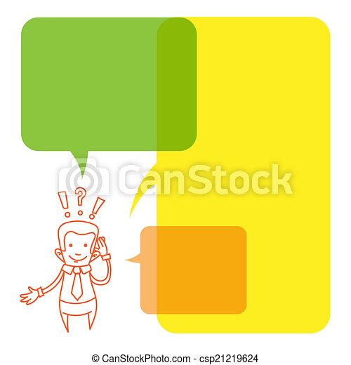 Vector illustration of a cartoon businessman - csp21219624