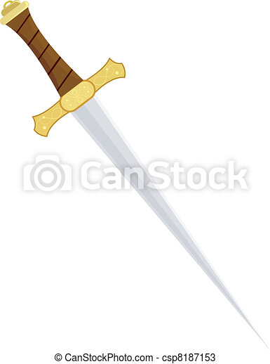 Vector illustration of a dagger - csp8187153