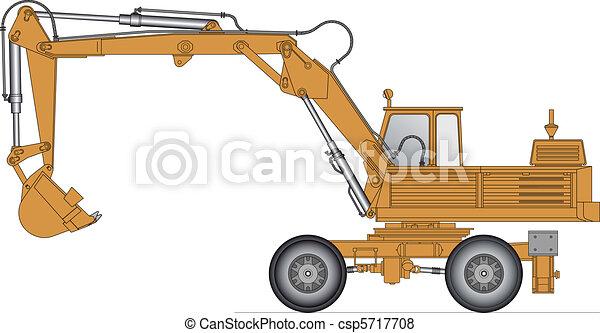 Vector illustration of a excavator - csp5717708