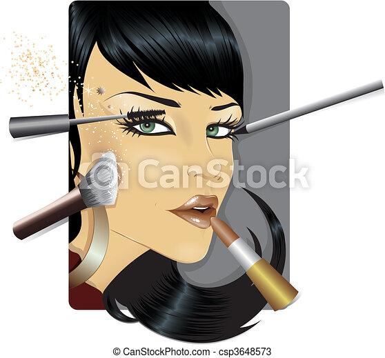 Vector illustration of a fashion mo - csp3648573