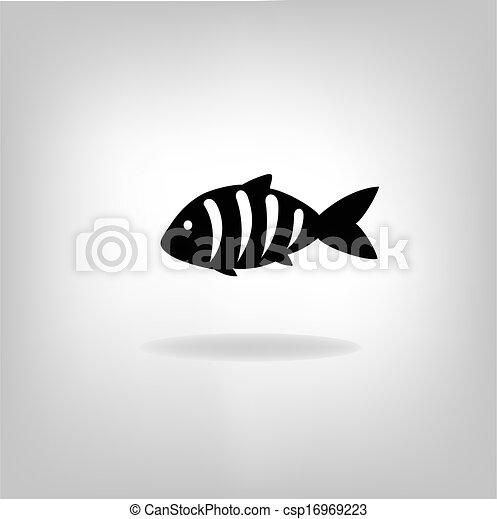 Vector illustration of a fish - csp16969223