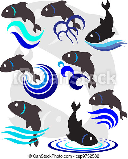 Vector illustration of a fish - csp9752582