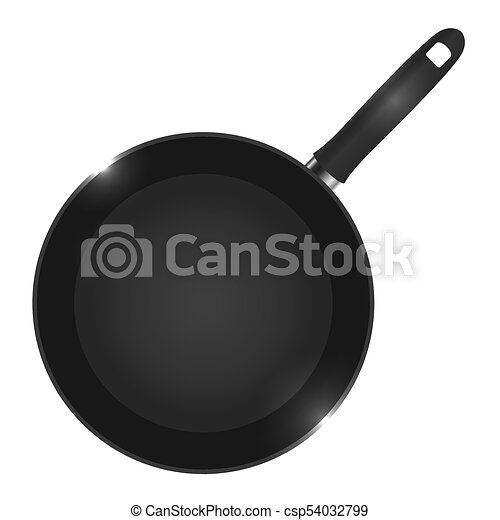 Vector illustration of a frying pan view from above. - csp54032799