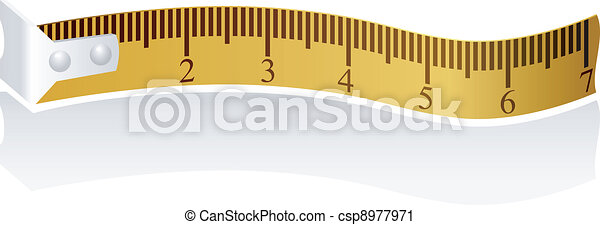 Vector illustration of a measuring tape - csp8977971